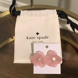 Kate Spade Slice of Stone Flower Stud Earrings